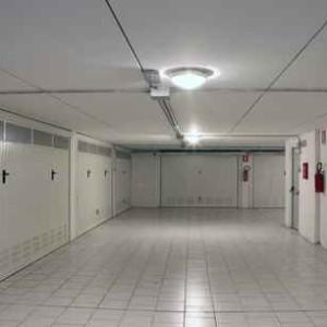 Gates of underground garages to a large condominium