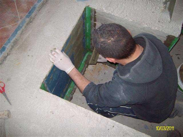 Impermeabilizzazione Vasca battesimale